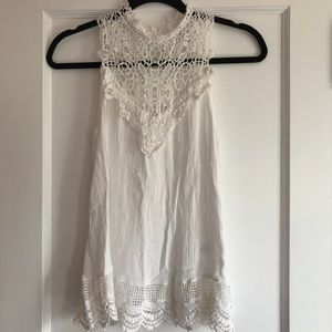 White Lace Top From a Boutique